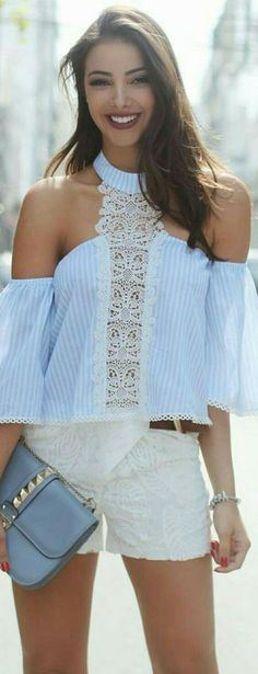 Pattern is business but the look.a little more casual than business ; Look Fashion, Diy Fashion, Fashion Outfits, Womens Fashion, Fashion Trends, Fashion Inspiration, Mode Shorts, Cool Outfits, Casual Outfits