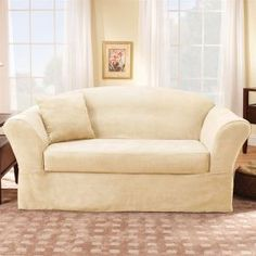 Sure Fit Slipcovers Suede Supreme Sofa Slipcover $73.00