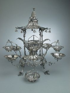 A Silver Epergne  By Thomas Pitts