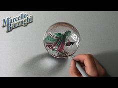 Crazy realistic DRAWING: a MARBLE or glass BALL - YouTube
