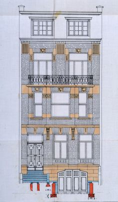 French Architecture, Victorian Architecture, Architecture Drawings, Classical Architecture, Facade Architecture, Franklin Roosevelt, Building Elevation, House Drawing, Commercial Architecture