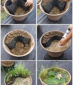 Mini-Gartenteich