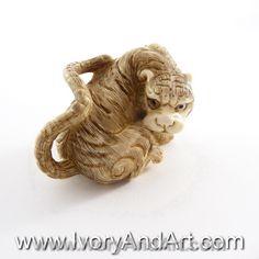 Mammoth Ivory Netsuke - The Eye of the Tiger