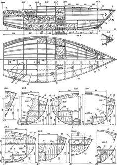 Конструкция корпуса яхты-четвертьтонника «Курьер-III» Nautical Design, Yacht Design, Sailboats, Floor Plans, Wood, Manualidades, Sailing Yachts, Sailboat, Floor Plan Drawing