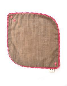 baby girl bibs gift set - pom pom bibs - khaki