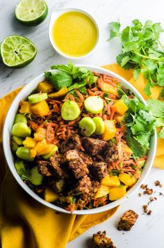 Jamaican Jerk Tempeh Mango Bowl.