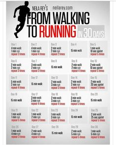 From walking to running workout.