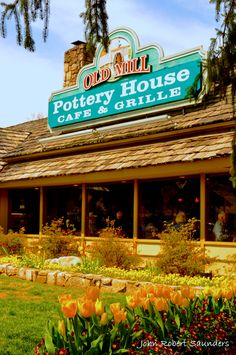 The Old Mill Pottery House Cafe Grille in Pigeon Forge, Tennessee. The Old Mill District of Pigeon Forge Gatlinburg Vacation, Gatlinburg Tennessee, Gatlinburg Cabins, Tennessee Vacation, Vacation Places, Vacation Trips, Vacation Spots, Places To Travel, Places To Visit