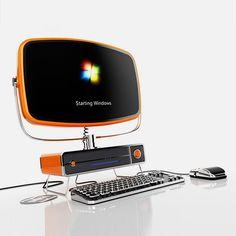 The retrocool Philco PC concept from SchultzeWORKS designstudio takes it's inspiration from the 1954 design classic Philco Predicta TV.