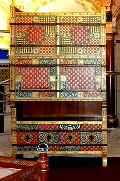Designed by William Burges  for Lady Butes Bedroom at Castell Coch.