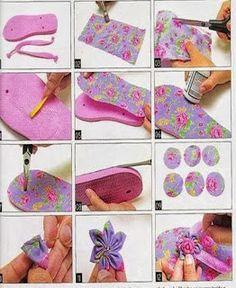 M Newborn Warm Baby Girl Prewalkers Anti-slip Soft Sole Slipper Infant Toddler Shoes Boots Flip Flop Craft, Crochet Flip Flops, Decorating Flip Flops, Shoe Refashion, Flipflops, Decoupage Vintage, Diy Crafts Hacks, Shoe Pattern, Flip Flop Shoes