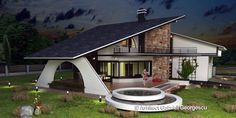 Luxury Villa Inspired From Macedonia – Amazing Architecture Magazine House Plans With Pictures, House Design Pictures, Modern Bungalow House, Modern House Facades, Village House Design, Kerala House Design, Home Building Design, Home Design Plans, House Plans Mansion