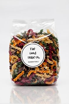 Contains NO preservatives, artificial colours or flavours. Vegan Friendly Snack Recipes, Snacks, Fusilli, Egg Free, Vegan Friendly, Preserves, Chips, Pasta, Rainbow