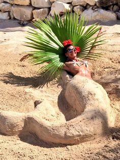Giovanna Battaglia as a Mermaid Making A Splash Mermaid Under The Sea, Unicorns And Mermaids, I Love The Beach, Nyc Restaurants, Giovanna Battaglia, Wrap, Beach Pictures, Beautiful Beaches, Life Is Good