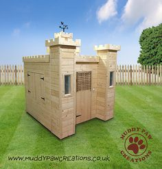 Childrens Wooden Playhouse Wendy House Play by MuddyPawCreations