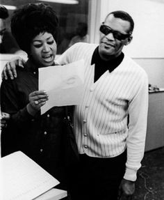 Aretha Franklin and Ray Charles, 1968.