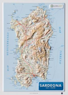 Series:  A4 format raised relief maps Scale:  1:1.000.000 Format:  21 x 29,7 cm