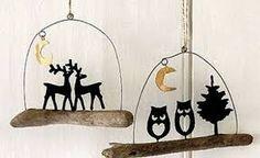 Risultati immagini per decorazioni natale gufi