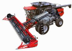 Do Not Hand Feed the Reaper. Case Ih Tractors, John Deere Tractors, Old Farm Equipment, Heavy Equipment, Combine Harvester, Classic Tractor, Vintage Tractors, International Harvester, New Holland
