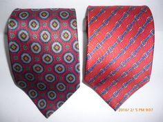 Mens Designer SINSABANG Neck Tie Red Blue Belt Buckle 100% Silk Buttery Soft LOT #Sinsabang #Tie