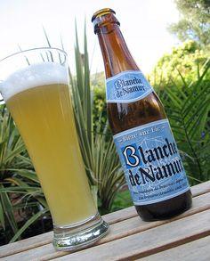 Belgian gastronomy - local specialties - Blanche de Namur, blonde beer. Belgium.