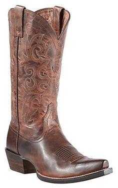 Ariat Alabama Women's Sassy Brown Snip Toe Western Boots   Cavender's