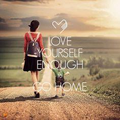 """""""Love yourself enough to Go Home."""" Có lẽ do còn tha thiết với cuộc đời quá nhiều. Nên càng đi xa, tôi càng phải học cách yêu thương bản thân mình hơn, không phải để mình quá ích kỷ và sống một cuộc đời đầy hoài nghi, mà để đến khi khó quá thì buông bỏ hết hành trang, quay về, nơi luôn vô điều kiện yêu thương tôi…"""