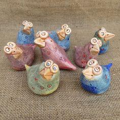 keramický ptáček - vrabčák