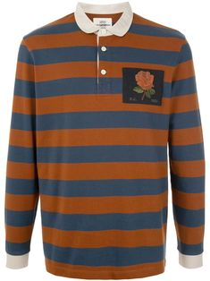 Emily Sharp Mens hand made twisted T-shirt stripes Orange and blue M or L