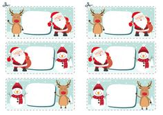Christmas Gift Tags, Christmas And New Year, School Border, Xmas Decorations, Bingo, Diy And Crafts, Label, Scrapbooking, Printables
