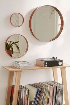 Espejo Redondo Circular Hierro Metal Baño Cobre Plata - $ 4.500,00 80cm