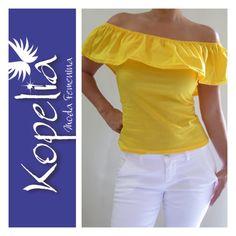 Blusa campesina amarilla