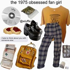 I love the 1975 even if I'm not exactly like this! Vintage Outfits, Retro Outfits, Grunge Outfits, Fashion Outfits, Aesthetic Fashion, Aesthetic Clothes, Aesthetic Memes, Estilo Grunge, Retro Fashion