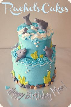 If someone got this for me for by birthday, I would die of happiness Dolphin Birthday Cakes, Dolphin Cakes, Cake Cookies, Cupcake Cakes, Pumpkin Cheesecake Cupcakes, Boat Cake, Ocean Cakes, Rosalie, Custard Cake