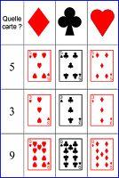 Tableau double entrées - jeu de cartes