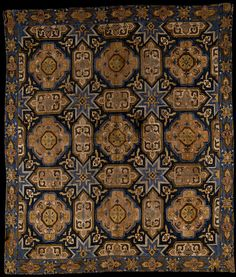Cover  Place of origin: Azerbaijan  Date:1740-1790  Materials and Techniques: Plainweave cotton embroidered with silk (2-ply; S twist) in surface darning on the diagonal with running stitch for the outlining.  Museum number:T.41-1940