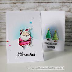 MFT-Stamps, Weihnachtskarte, Weihnachtsmann, Weihnachtsbaum, Cards,