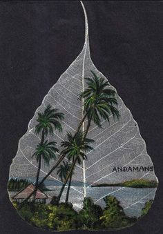 Buy this beautiful hand made leaf painting at www.peepleaf.com