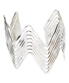 Another great find on #zulily! Silvertone Herringbone Cuff #zulilyfinds