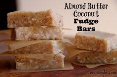 Almond Butter Coconut Fudge Bars
