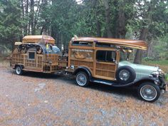 Check out this 1929 Ford Model Woody Teardrop Trailer!- Check out this 1929 Ford Model Woody Teardrop Trailer! Check out this 1929 Ford Model Woody Teardrop Trailer! Mini Camper, Truck Camper, Camper Trailers, Tiny Trailers, Vintage Caravans, Vintage Travel Trailers, Vintage Rv, Vintage Trucks, Vintage Campers