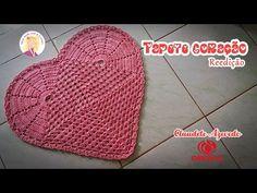 Tapete Coração em Crochê (reedição) by Claudete Azevedo - YouTube