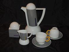"ARZBERG CITY MODERN ART COFFEE SET ""CITY STRIPES"" by LUTZ RABOLD  | Antiques, Periods & Styles, Mid-Century Modernism | eBay!"