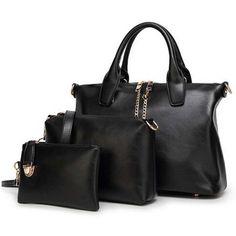 Women Handbag 3 Piece Large Clutch Small Fashion Set - Free Shipping