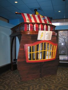 pirate ship reading nook
