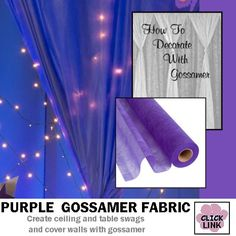 #Gossamer #Fabric can be used to cover walls, drape ceilings and more.