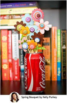 handmade button flowers button crafts