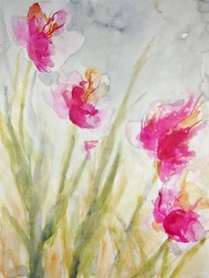 "Saatchi Online Artist Karin Johannesson; Painting, ""Summer Pink II"" #art"