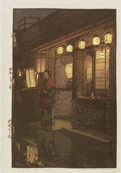 Yoshida Hiroshi: A Little Restaurant [at Night] (Ryôriya no yoru) - Museum of Fine Arts
