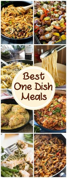 Best One Dish Meals   Delicious easy dinner recipes for back to school! @lizzydo